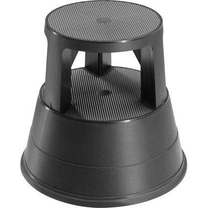 Hailo Rollhocker Rolltritt 220, aus Kunststoff, schwarz