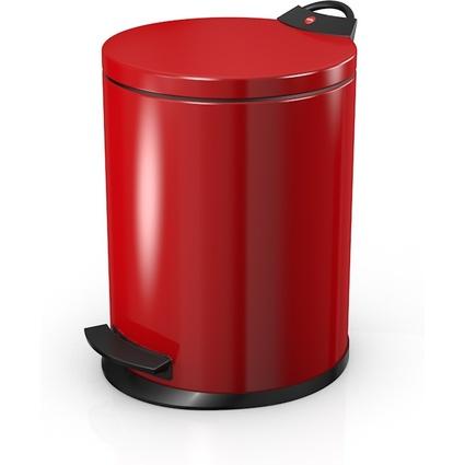 Hailo Tret-Abfalleimer T2.13, rund, 13 Liter, rot