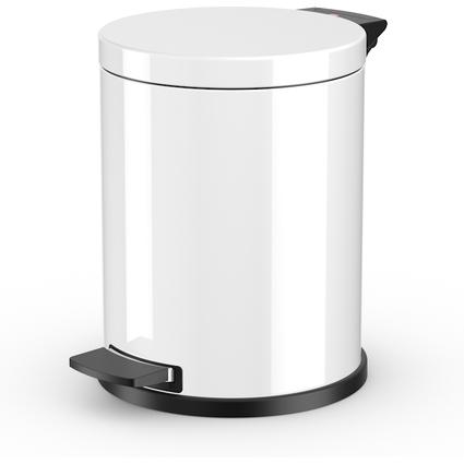 Hailo Tret-Abfalleimer ProfiLine Solid 14, 14 Liter, weiß