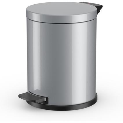 Hailo Tret-Abfalleimer ProfiLine Solid 14, 14 Liter, silber