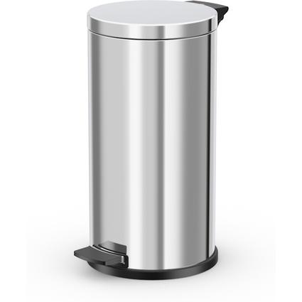 Hailo Tret-Abfalleimer ProfiLine Solid L, 18 Liter, silber