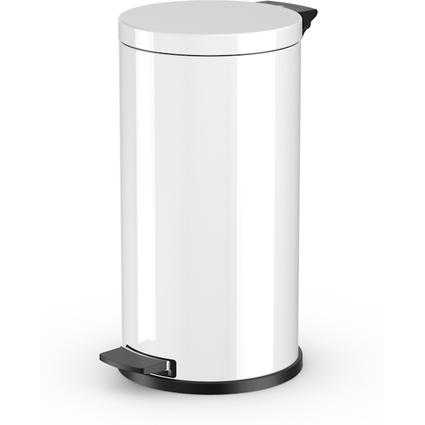 Hailo Tret-Abfalleimer ProfiLine Solid L, 18 Liter, weiß