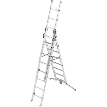 Hailo Alu-Kombileiter ProfiLine trio, 2 x 8 Stufen