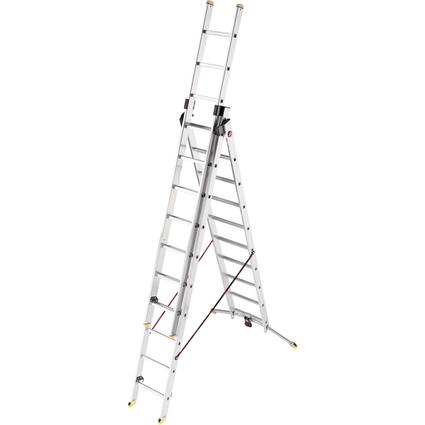 Hailo Alu-Kombileiter ProfiLine trio, 3 x 10 Stufen