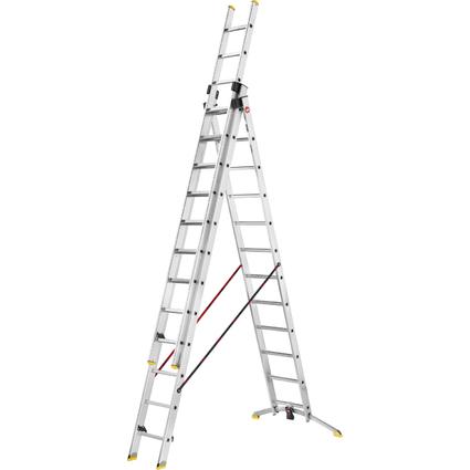 Hailo Alu-Kombileiter ProfiLine trio, 3 x 12 Stufen