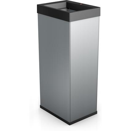 Hailo Abfalleimer Big-Box Quick 60, 60 Liter, silber