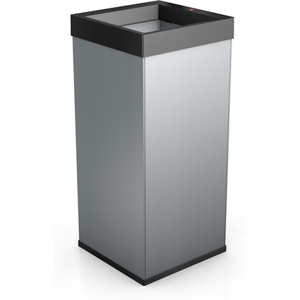 Hailo Abfalleimer Big-Box Quick 80, 80 Liter, silber