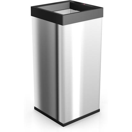 Hailo Abfalleimer Big-Box Quick XXL, 71 Liter, silber