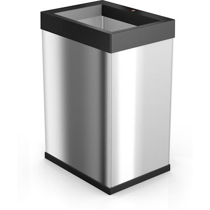Hailo Abfalleimer Big-Box Quick 40, 40 Liter, silber