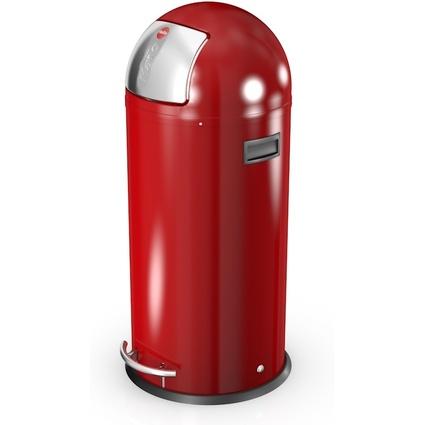 Hailo Abfalleimer KickMaxx 50, rund, 50 Liter, rot