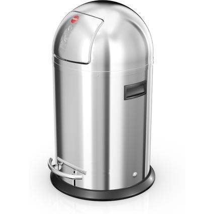 Hailo Abfalleimer KickMaxx L, rund, 28 Liter, silber