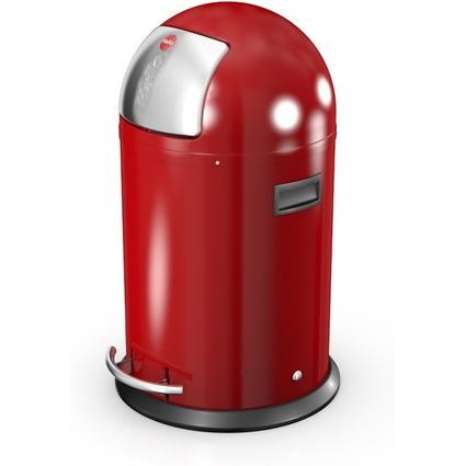 Hailo Abfalleimer KickMaxx L, rund, 28 Liter, rot