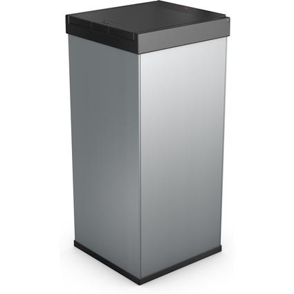 Hailo Abfalleimer Big-Box Touch 80, 80 Liter, silber
