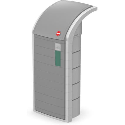 Hailo Wertstoffbehälter ProfiLine WSB 120, 120 Liter, grau
