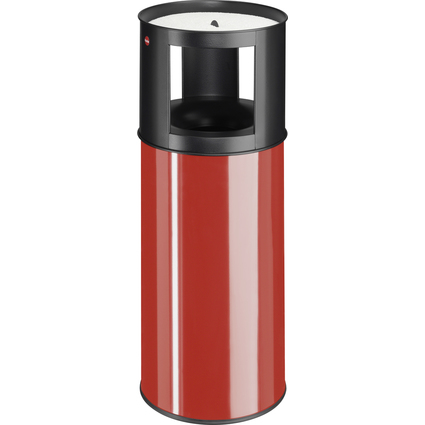 Hailo Papierkorb ProfiLine Care XL, mit Ascher, rot
