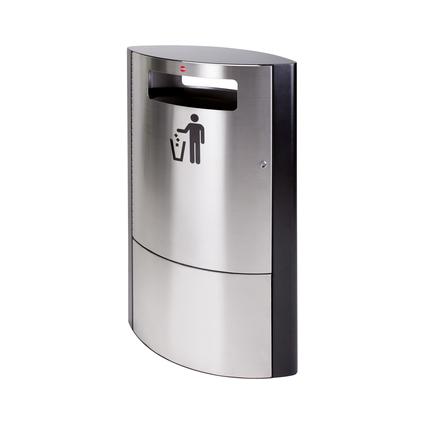 Hailo Abfalleimer ProfiLine outdoor 35, 35 Liter, silber