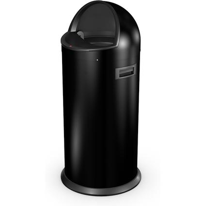 Hailo Abfalleimer Quick 50, rund, 50 Liter, schwarz