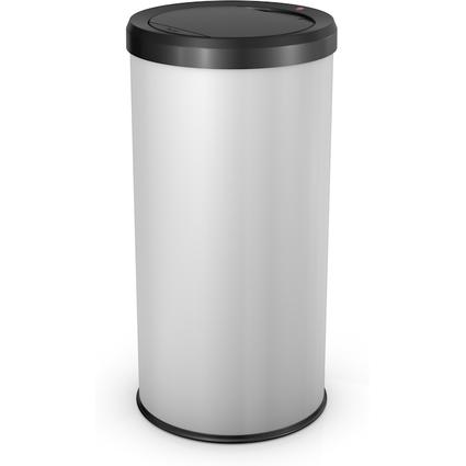 Hailo Abfalleimer BigBin Touch 45, rund, 45 Liter, weiß