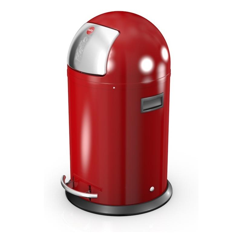 hailo abfalleimer kickmaxx l rund 28 liter rot 0835 139. Black Bedroom Furniture Sets. Home Design Ideas