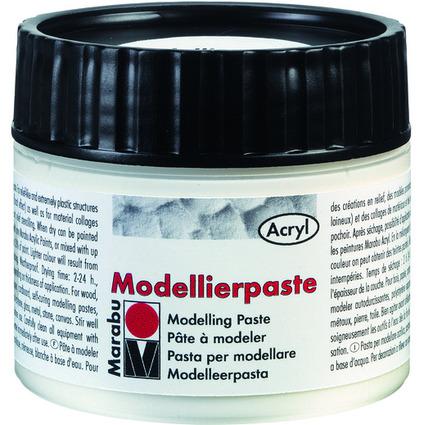 Marabu Modellierpaste, weiß, 100 ml, in Kunststoffdose