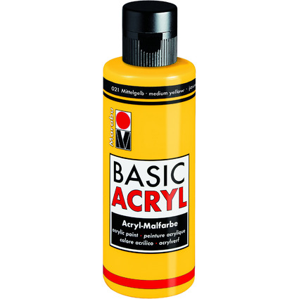 "Marabu Acrylfarbe ""BasicAcryl"", mittelgelb, 80 ml"
