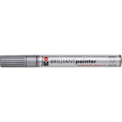 "Marabu Lackmarker ""Brilliant Painter"", silber"