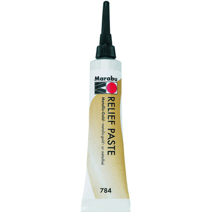 Marabu Reliefpaste, metallic-gold, 20 ml in Tube