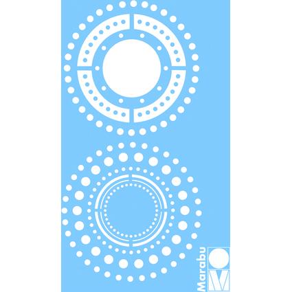 "Marabu Motivschablone ""Punkte"", 100 x 150 mm"
