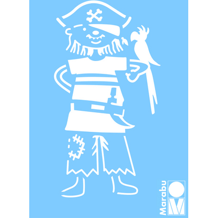 "Marabu Motivschablone ""Pirat"", 100 x 150 mm"