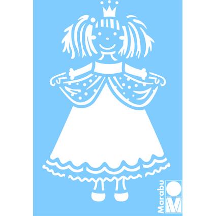 "Marabu Motivschablone ""Prinzessin"", 100 x 150 mm"
