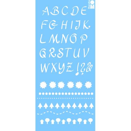"""Marabu Schriftschablone """"Alphabet 2"""", 150 x 330 mm"""