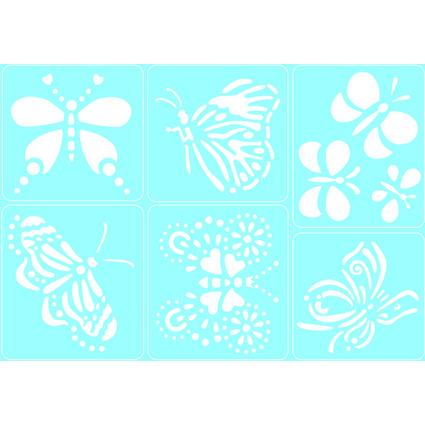 "Marabu Motivschablonen-Set ""Papillons"", selbstklebend"