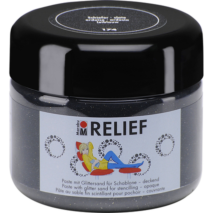 Marabu 3D-Acrylpaste RELIEF Colour your dreams, schiefer