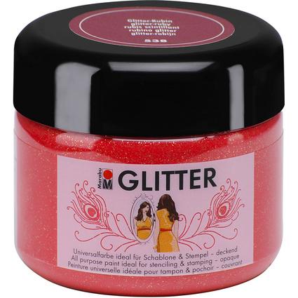 Marabu Acrylfarbe GLITTER Colour your dreams, rubin