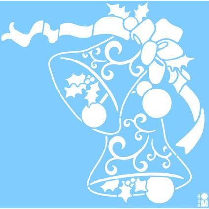 "Marabu Weihnachts-Motivschablone ""Christmas Bells"""