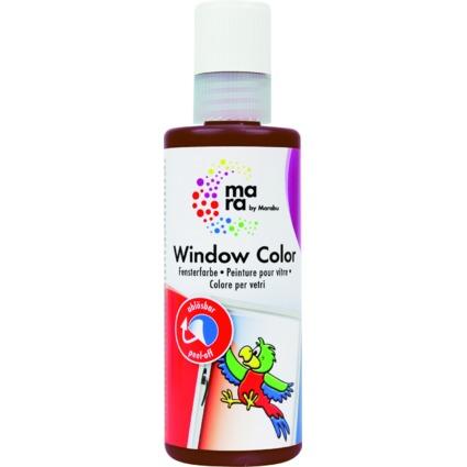 mara by Marabu Window Color, 80 ml, dunkelbraun
