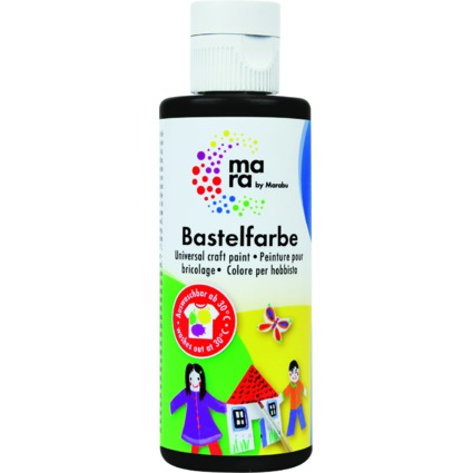 mara by Marabu Bastelfarbe, 80 ml, schwarz