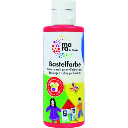 mara by Marabu Bastelfarbe, 80 ml, kirschrot