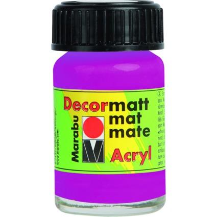 "Marabu Acrylfarbe ""Decormatt"", magenta, 15 ml, im Glas"
