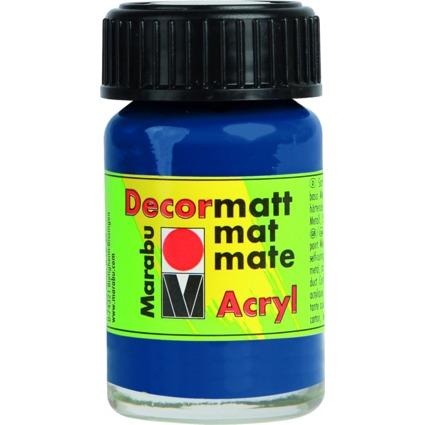 "Marabu Acrylfarbe ""Decormatt"", dunkelblau, 15 ml, im Glas"