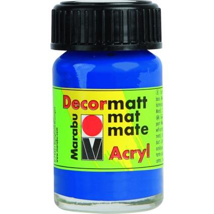 "Marabu Acrylfarbe ""Decormatt"", ultramarinblau, 15 ml, Glas"