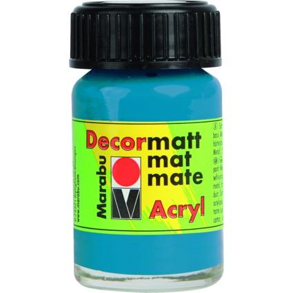 """Marabu Acrylfarbe """"Decormatt"""", cyan, 15 ml, im Glas"""