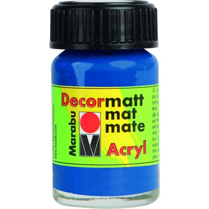 "Marabu Acrylfarbe ""Decormatt"", royalblau, 15 ml, im Glas"