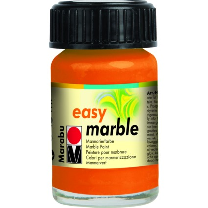 "Marabu Marmorierfarbe ""Easy Marble"", orange, 15 ml, im Glas"