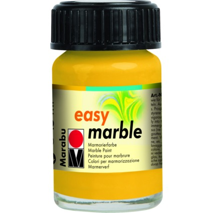 "Marabu Marmorierfarbe ""Easy Marble"", mittelgelb, 15 ml, Glas"
