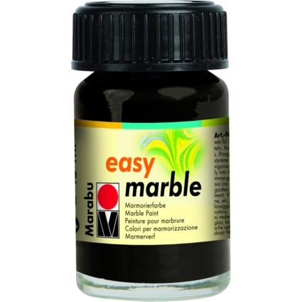"Marabu Marmorierfarbe ""Easy Marble"", schwarz, 15 ml, im Glas"