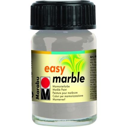 "Marabu Marmorierfarbe ""Easy Marble"", silber, 15 ml, im Glas"