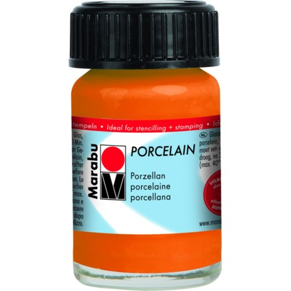 "Marabu Porzellanfarbe ""Porcelain"", orange, 15 ml"