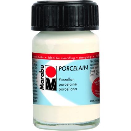 "Marabu Porzellanfarbe ""Porcelain"", weiß, 15 ml"