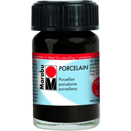 "Marabu Porzellanfarbe ""Porcelain"", schwarz, 15 ml"